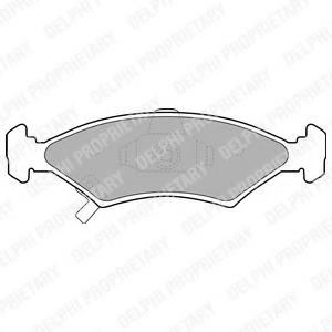 LP1630 DELPHI Комплект тормозных колодок, дисковый тормоз