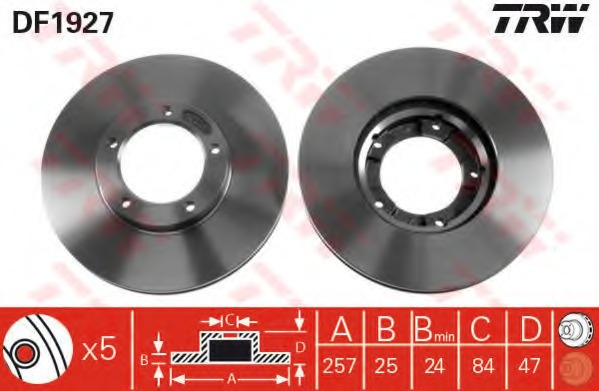 DF1927 TRW Тормозной диск