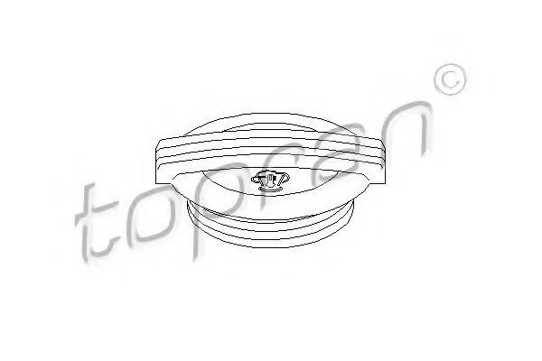 111023 TOPRAN Крышка, резервуар охлаждающей жидкости