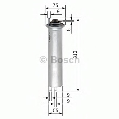 0450905960 BOSCH Топливный фильтр