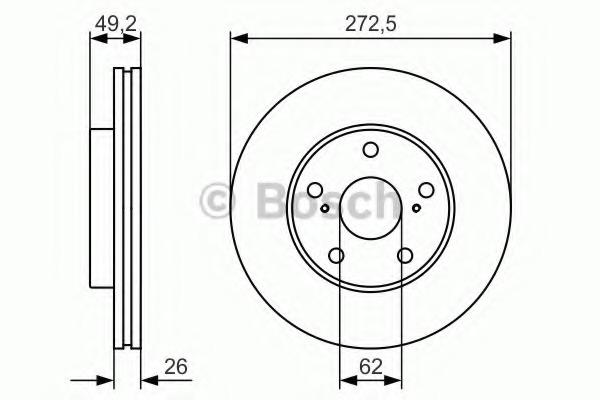 0986479R45 BOSCH Тормозной диск