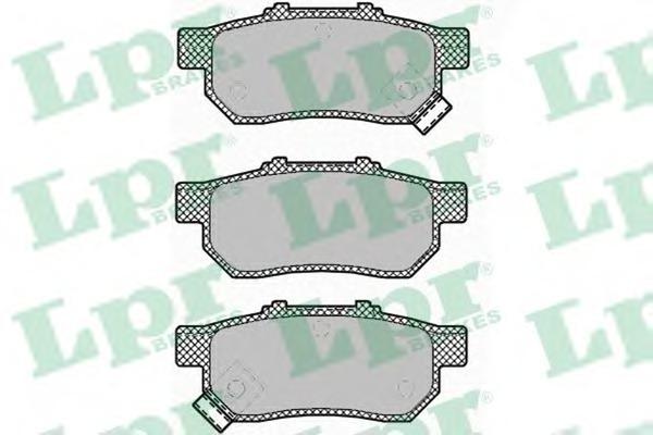 05P1425 LPR Комплект тормозных колодок, дисковый тормоз