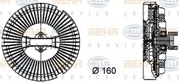 8MV376733021 HELLA Муфта/ Крыльчатка вентилятора охлаждения