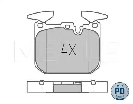 0252502818PD MEYLE Комплект тормозных колодок, дисковый тормоз
