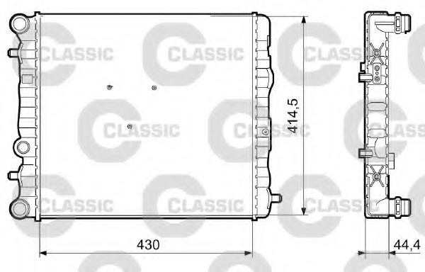 233062 VALEO Радиатор системы охлаждения
