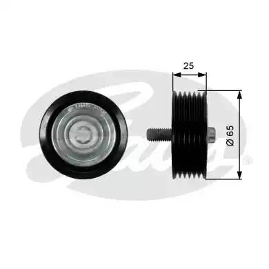 T36433 GATES Направляющий ролик привода вспомогательных агрегатов