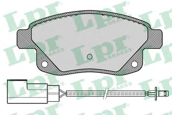 05P1261 LPR Комплект тормозных колодок, дисковый тормоз