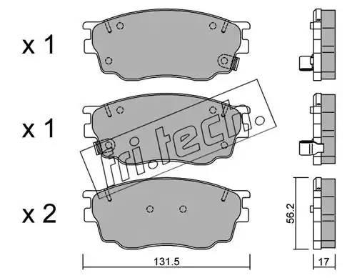 4910 FRI.TECH. Комплект тормозных колодок, дисковый тормоз