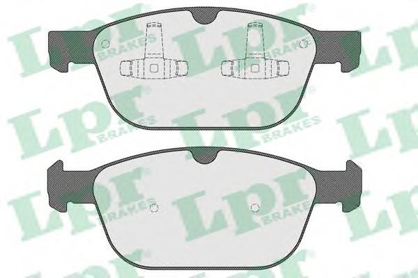 05P1597 LPR Комплект тормозных колодок, дисковый тормоз