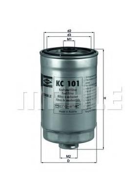 Топливный фильтр MAHLE/KNECHT KC101