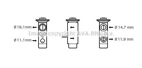 MS1112 AVA Расширительный клапан, кондиционер