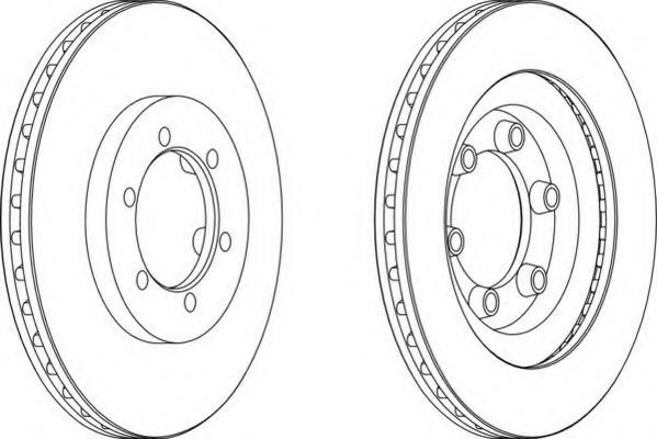 DDF1346 FERODO Тормозной диск