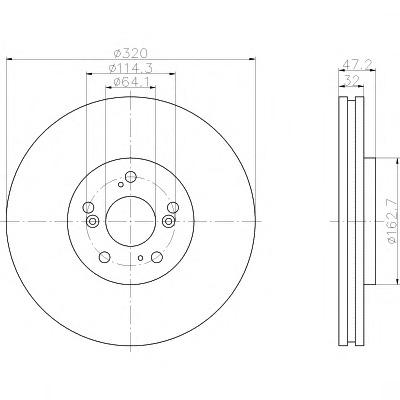 92194900 TEXTAR Диск тормозной TEXTAR