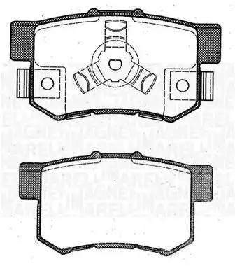363916060463 MAGNETI MARELLI Комплект тормозных колодок, дисковый тормоз