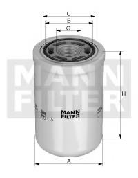 Фильтр масляный двигателя MANN-FILTER WH1257