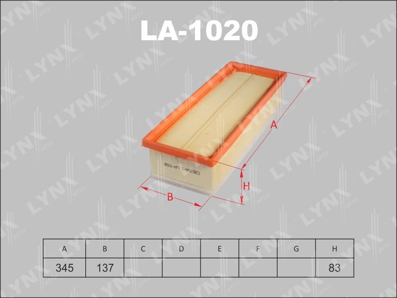 LA1020 LYNX Фильтр воздушный