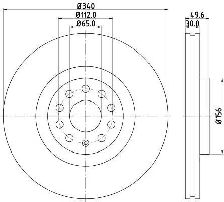 8DD355129241 HELLA Тормозной диск