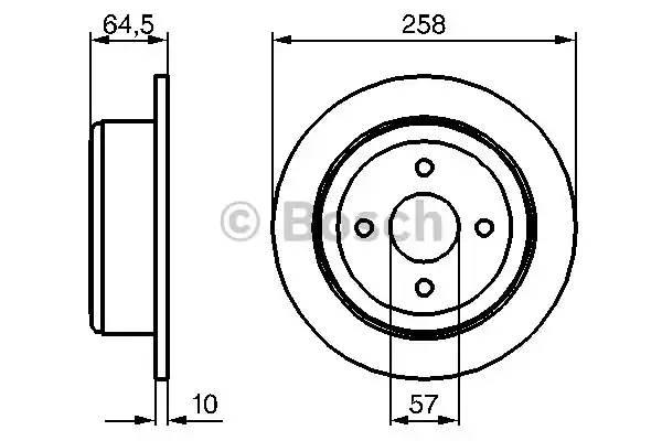 0986479220 BOSCH Тормозной диск