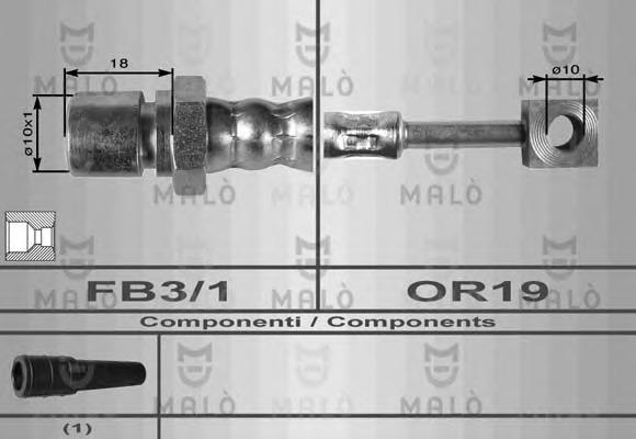 8615 MALO Тормозной шланг