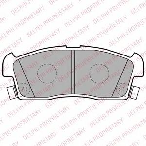 LP2258 DELPHI Комплект тормозных колодок, дисковый тормоз