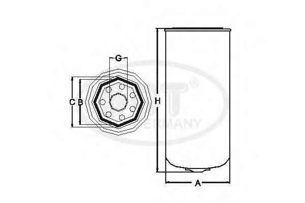 Топливный фильтр SCT ST6039