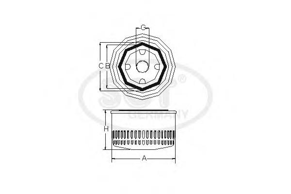 SM127 SCT Масляный фильтр