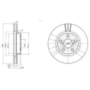 BG3347 DELPHI Тормозной диск