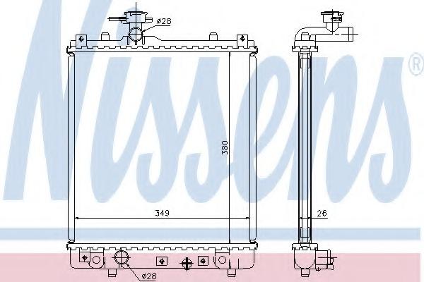 63014A NISSENS Радиатор, охлаждение двигателя