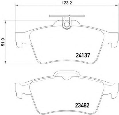 Колодки тормозные дисковые комплект задние TEXTAR 2413701
