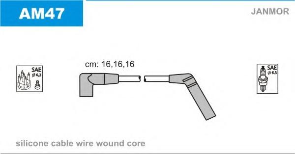 AM47 JANMOR Комплект проводов зажигания