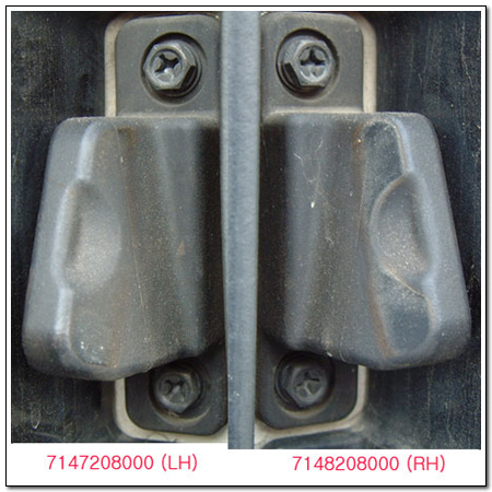 7148208000 SSANG YONG BUMPER ASSY-BODY SIDE GUIDE