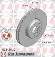 150347820 ZIMMERMANN Тормозной диск