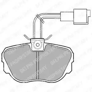 LP647 DELPHI Комплект тормозных колодок, дисковый тормоз