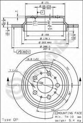 08776511 BREMBO Тормозной диск