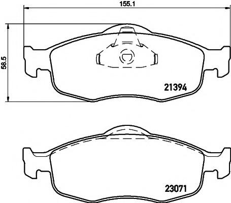 2139408 TEXTAR Колодки тормозные дисковые