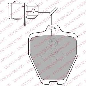 LP1463 DELPHI Комплект тормозных колодок, дисковый тормоз