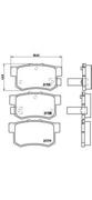 P28022 BREMBO Тормозные колодки