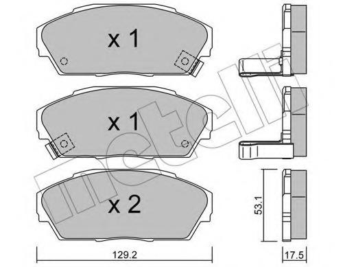 2201710 METELLI Колодки тормозные дисковые, комплект