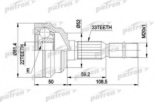 PCV1287 PATRON ШРУС