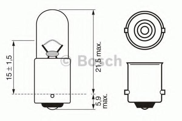 1987302512 BOSCH Лампа накаливания