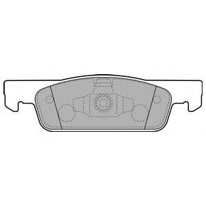 Комплект тормозных колодок DELPHI LP2479