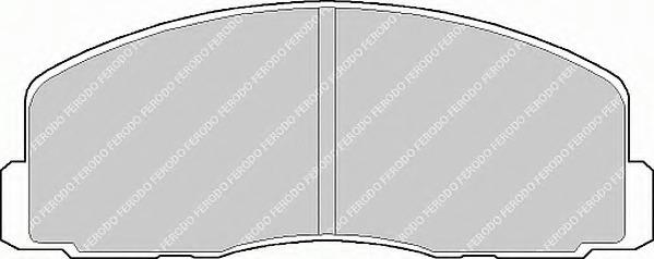 FDB368 FERODO Комплект тормозных колодок, дисковый тормоз