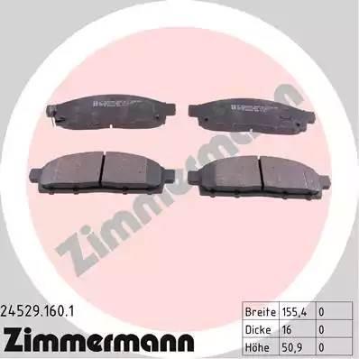 245291601 ZIMMERMANN Тормозные колодки