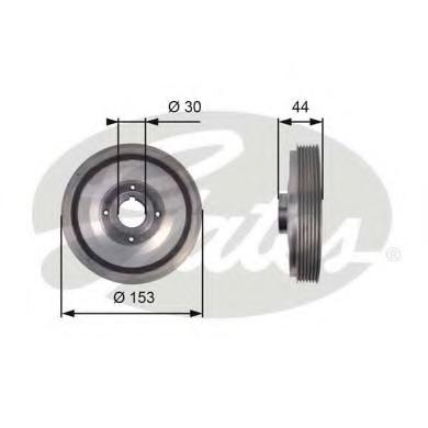 TVD1067 GATES Ременный шкив, коленчатый вал
