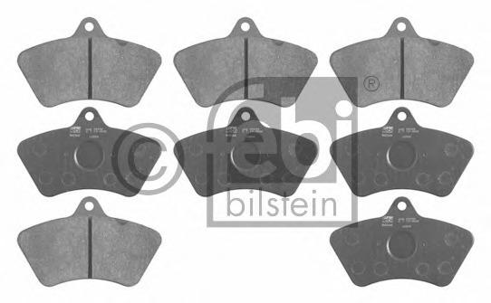 16568 FEBI Комплект тормозных колодок, дисковый тормоз