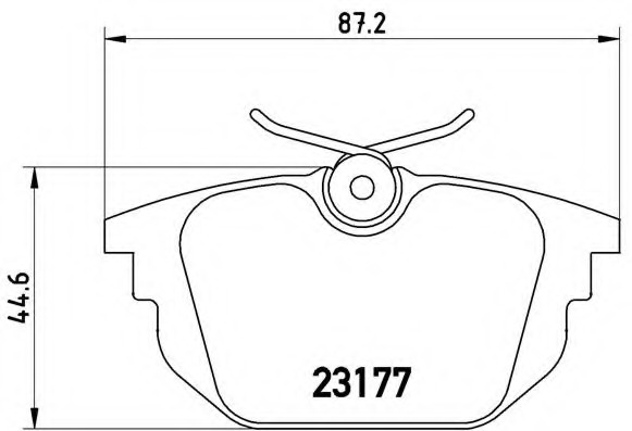 P23026 BREMBO Тормозные колодки