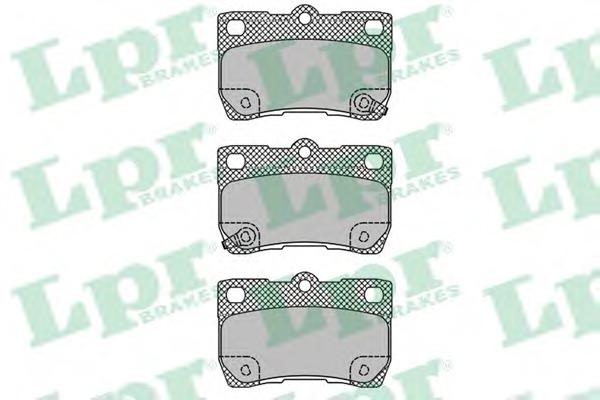 05P1407 LPR Комплект тормозных колодок, дисковый тормоз