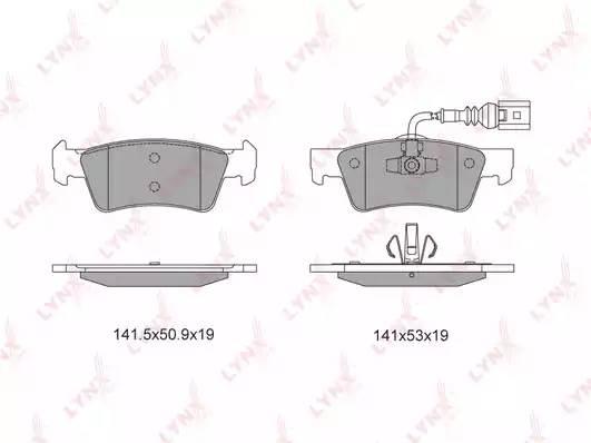 BD8039 LYNX Колодки тормозные дисковые