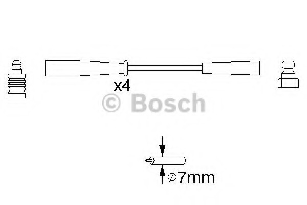 0986356817 BOSCH Провода в/в Bosch 0986356817 Volvo S40