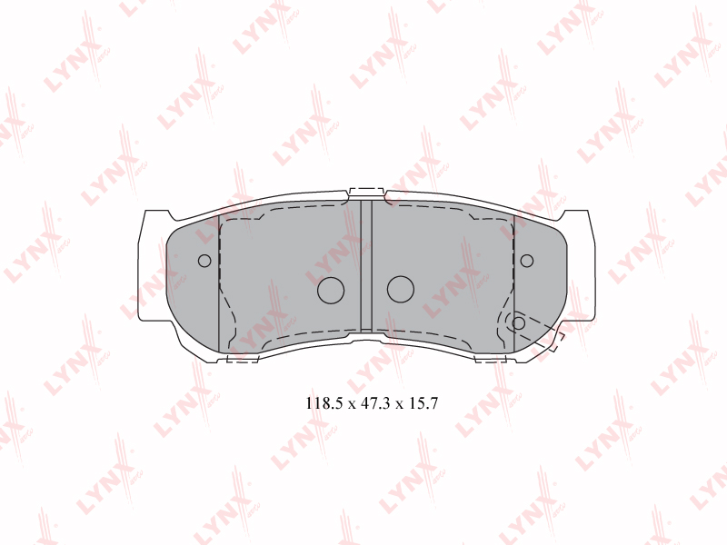 BD3616 LYNXAUTO Колодки тормозные задние